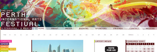 Perth Festival web site